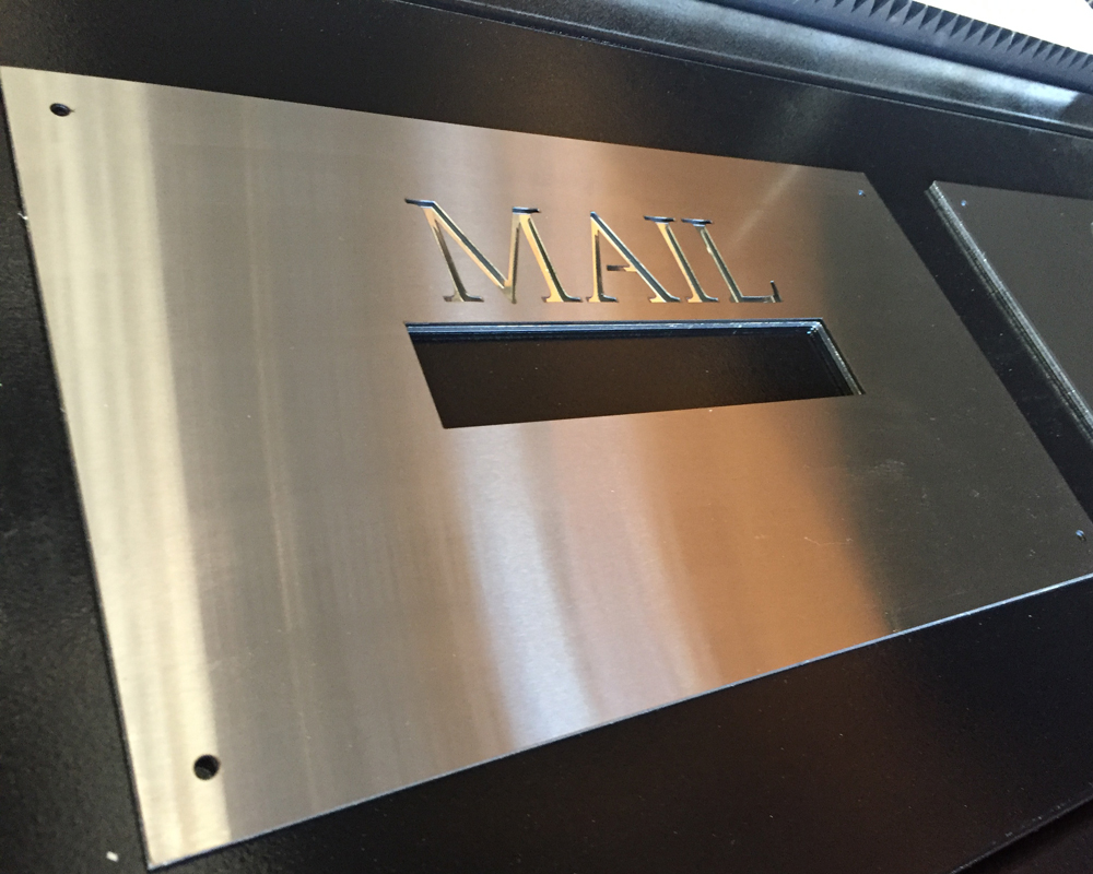 Stainless Steel On Mirror Plaque Select Sizes Laser