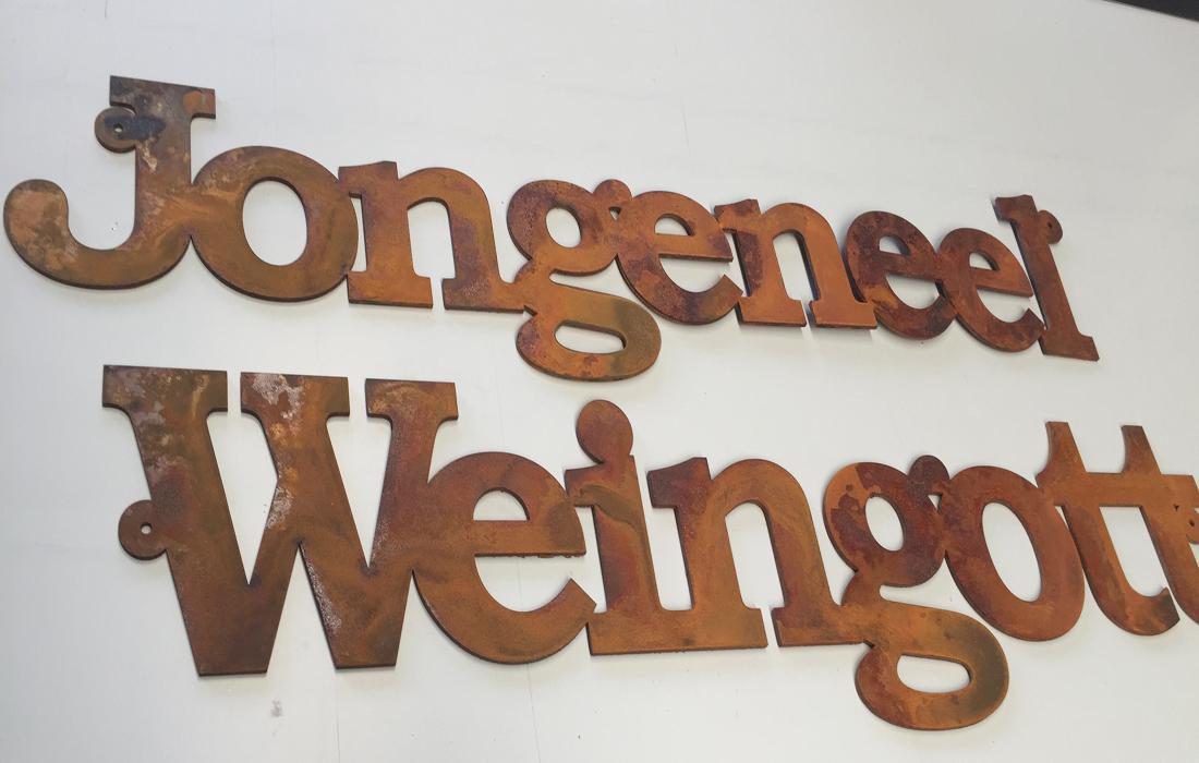 Corten Steel 3D Custom Made Signs